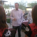Coach Fassel speaking at Locos Tweetup Event