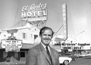 Jackie Gaughan in front of his El Cortez Hotel/Casino