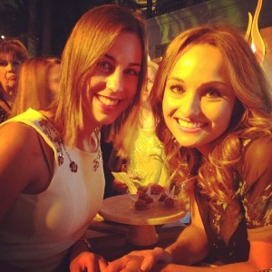 Giada De Laurentiis took a break from serving guest at Grand Tasting to chat about her new reastaurant and take a quick picture.