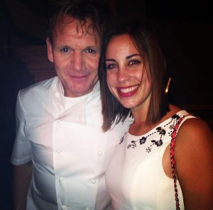 Gordon Ramsay was constantly surrounded by fans but, luckily, I was able to sneak a photo