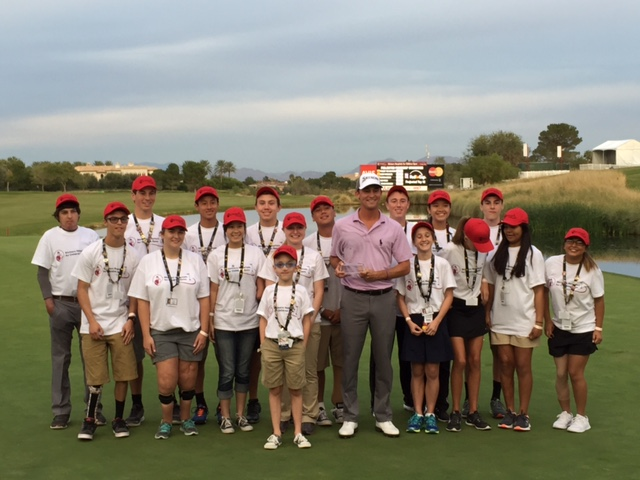 Shriners Hospitals for Children patients with tournament winner Smylie Kaufman