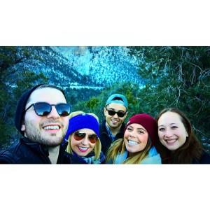 Mt. Charleston: PR people do love their selfies.