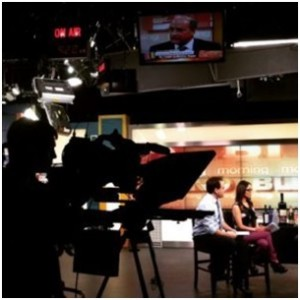 (My first in-studio at a news station for a client)